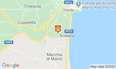 Map Vieste Villa 10245