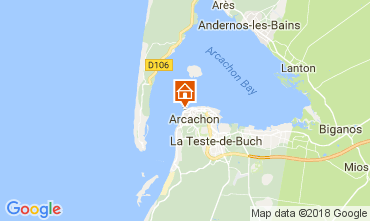 Map Arcachon One-room apartment 112926