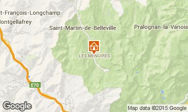 Map Les Menuires Apartment 15411