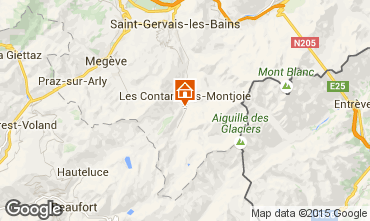 Map Les Contamines Montjoie Apartment 48559