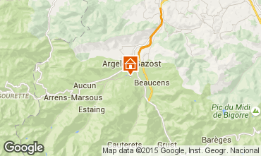Map Argeles Gazost Vacation rental 62462