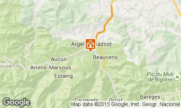Map Argeles Gazost Vacation rental 62462