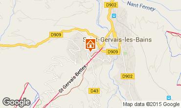 Map Saint-Gervais-les-Bains One-room apartment 86819