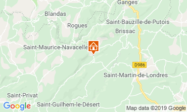 Map Saint Guilhem le Désert Vacation rental 118532