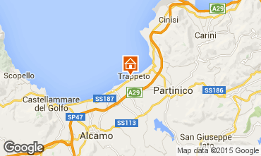 Map Trappeto Apartment 36945