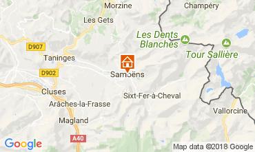 Map Samoëns One-room apartment 73559