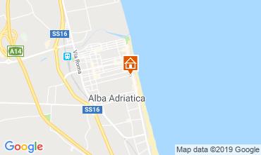 Map Alba Adriatica Apartment 118420