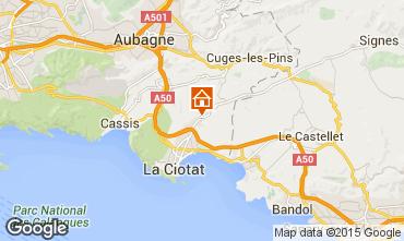 Map La Ciotat Apartment 5939