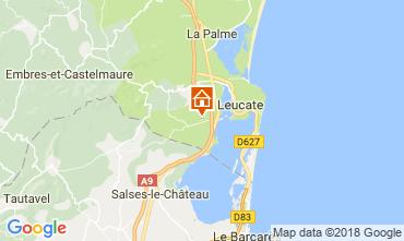 Map Leucate Villa 113585