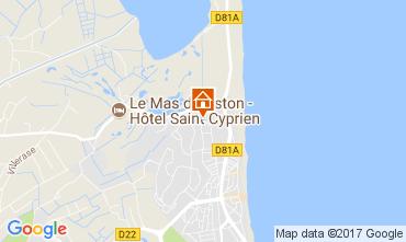 Map Saint Cyprien Plage House 112320