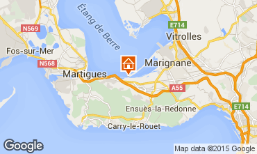 Map Martigues Vacation rental 77133