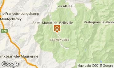 Map Les Menuires Chalet 41939