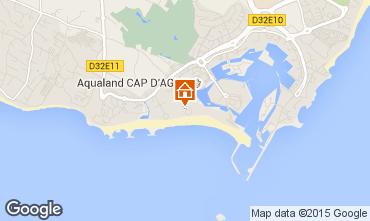 Map Cap d'Agde Apartment 62881