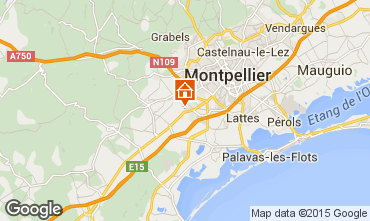 Map Montpellier Villa 76444