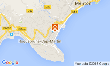 Map Menton Apartment 40052