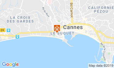 Map Cannes One-room apartment 79486