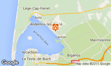Map Andernos les Bains Villa 72625
