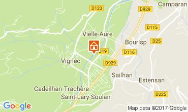 Map Saint Lary Soulan Apartment 112136