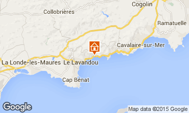 Map Le Lavandou Apartment 53838