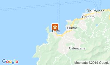 Map Calvi Apartment 118631