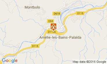 Map Amélie-Les-Bains One-room apartment 18749