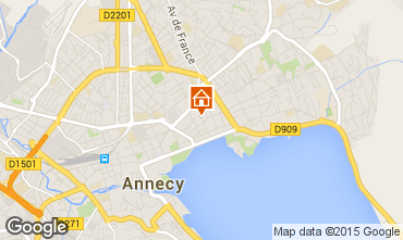 Map Annecy One-room apartment 95281