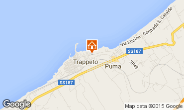 Map Trappeto Apartment 92286