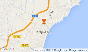 Map Playa d'Aro Apartment 98671