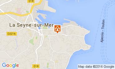 Map La Seyne sur Mer Apartment 62221