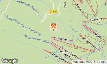Map Les Arcs One-room apartment 319