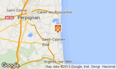 Map Saint Cyprien Plage Villa 57289