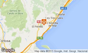 Map La Ametlla de Mar Vacation rental 96099