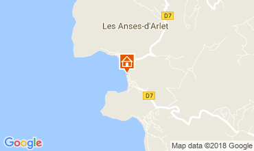 Map Anses d'Arlet Apartment 90232
