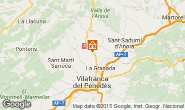 Map Barcelona Vacation rental 17009