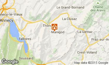 Map La Clusaz Chalet 60510