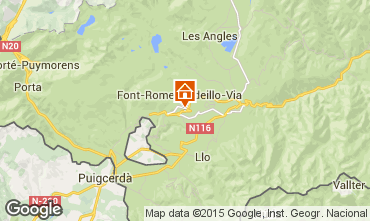 Map Font Romeu Apartment 64929