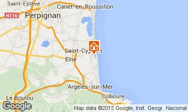 Map Saint Cyprien Plage Villa 69744