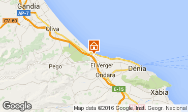 Map Denia Apartment 103151