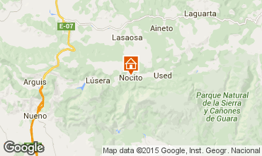 Map Huesca Bed and breakfast 41565