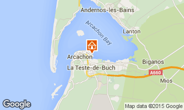 Map Arcachon One-room apartment 73087