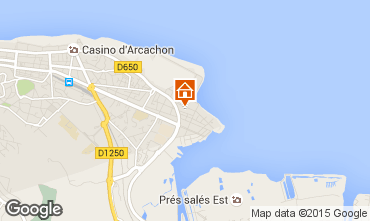 Map Arcachon One-room apartment 73087