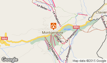 Map Montgenevre House 17180