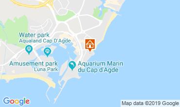 Map Cap d'Agde Apartment 33425
