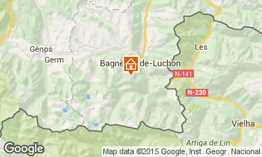 Map Luchon Superbagneres One-room apartment 68305