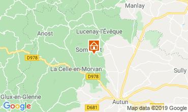 Map Autun Vacation rental 112323