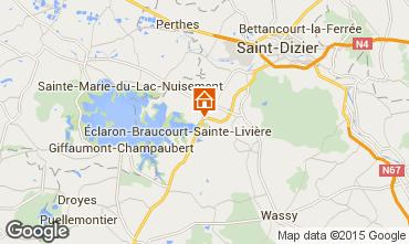 Map Éclaron-Braucourt-Sainte-Livière Vacation rental 75307