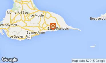 Map Saint Francois One-room apartment 62479