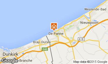 Map De Panne Apartment 9555