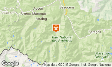 Map Cauterets Apartment 4052