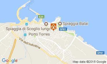 Map Porto Torres Apartment 64765